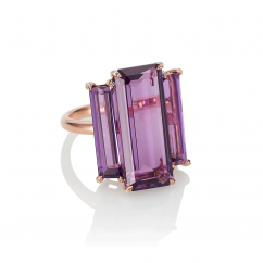 18k Rose Gold and Amethyst Cocktail Ring