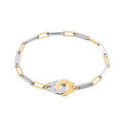 Dinh Van 18k Gold and Stainless Steel Menottes Bracelet
