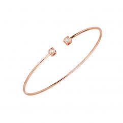 Dinh Van Le Cube 18k Rose Gold and Diamond Bracelet