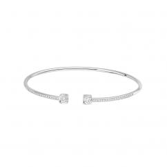 Dinh Van Le Cube 18k White Gold and Diamond Bracelet