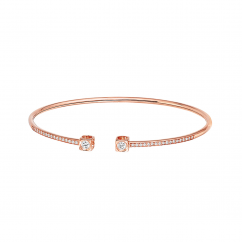 Dinh Van 18k Rose Gold and Diamond Le Cube Bracelet