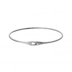 Dinh Van 18k White Gold Serrure Jonc Bracelet