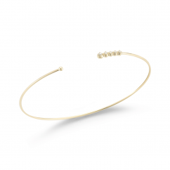 Mizuki 14k Gold and Diamond Cuff Bracelet
