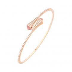Marli Cleo 18k Gold and Pink Opal Bracelet