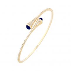 Marli Cleo 18k Gold and Lapis Bracelet