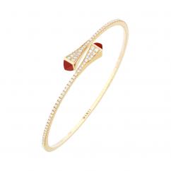 Marli Cleo 18k Gold and Red Agate Bracelet