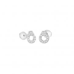 Dinh Van 18k Gold and Diamond Menottes Stud Earrings
