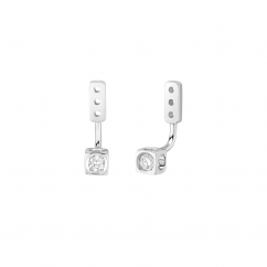 Dinh Van Le Cube 18k White Gold Diamond Earring Jackets