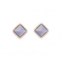 Marli Cleo 18k Gold and Chalcedony Earrings