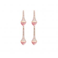 Marli Cleo 18k Gold and Pink Opal Earrings