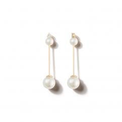Mizuki 14k Gold and Pearl Drop Earrings