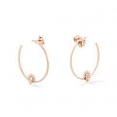 Nouvel Heritage Mystic Love Diamond Hoop Earrings