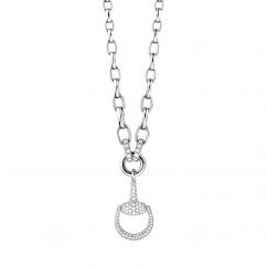 Gucci Horsebit 18k White Gold and Diamond Necklace