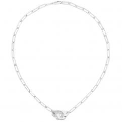 Dinh Van 18k Gold and Diamond Menottes Necklace