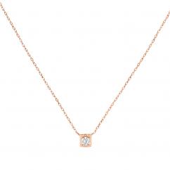 Dinh Van 18k Rose Gold and Diamond Le Cube Pendant