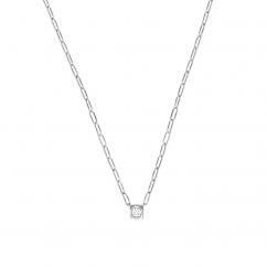 Dinh Van Le Cube 18k Gold and Diamond Large Pendant