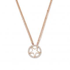 Nouvel Heritage Mystic Star 18k Rose Gold Necklace