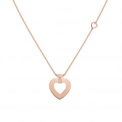 Fred Pretty Woman 18k Rose Gold Medium Diamond Heart Pendant, Exclusively at Hamilton Jewelers