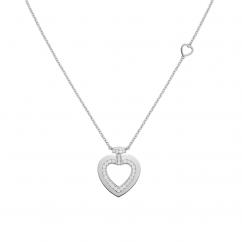 Fred Pretty Woman 18k White Gold Medium Heart Diamond Pendant, Exclusively at Hamilton Jewelers