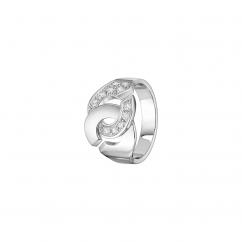Dinh Van 18k Gold and Diamond Menottes Ring