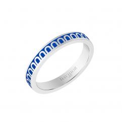 L'Arc de DAVIDOR Ring PM, 18k White Gold with Riviera Lacquer