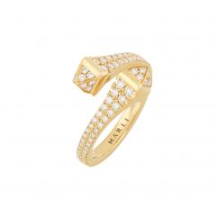 Marli Cleo 18k Gold and Diamond Wrap Ring