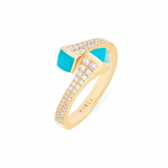 Marli Cleo 18k Gold and Turquoise Ring