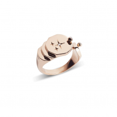Nouvel Heritage Sparkles Gold Ring
