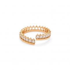 Nouvel Heritage 18k Rose Gold Lace Ring