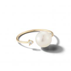 Mizuki 14k Gold and Large Pearl Ring