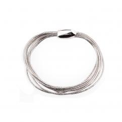 Pesavento Sterling Silver DNA Spring Thin Bracelet