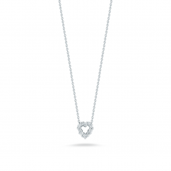 Roberto Coin 18k Gold and Diamond Heart Pendant