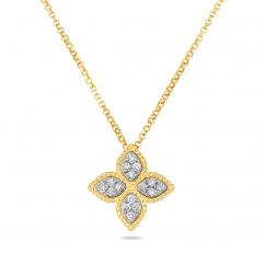 Roberto Coin Princess Flower Medium 18k Gold Pendant
