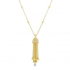 Roberto Coin Byzantine Barocco 18k Gold Tassel Necklace