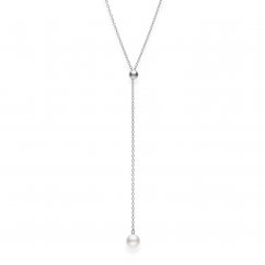 Mikimoto Akoya Pearl Lariat Pendant