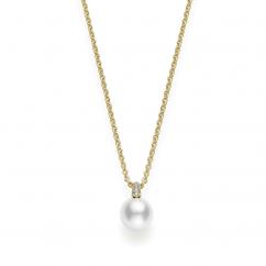 Mikimoto Akoya Single 8.5mm Pearl Pendant in 18K Yellow Gold