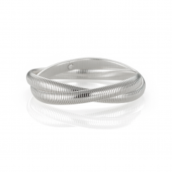 Sterling Silver Woven Cobra Bracelet