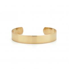 22k Gold Overlay Engraveable Cuff Bracelet