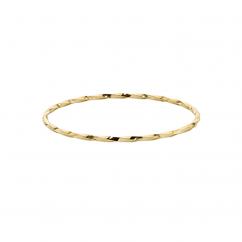 Yellow Gold Overlay Twisted Bangle Bracelet