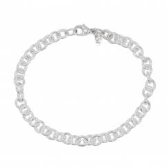 Hamilton Sterling Silver Small Link Charm Bracelet