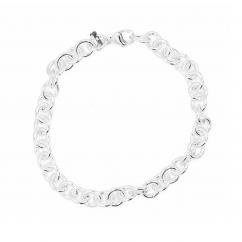 Hamilton Sterling Silver Medium Link Charm Bracelet