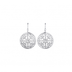 Arabesque Sterling Silver and Diamond Earrings