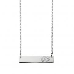 Sterling Silver Monogram ID Bar Pendant