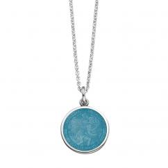 St. Christopher Aqua Enamel Medal