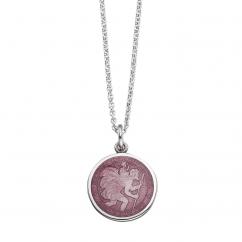 St. Christopher Lavender Enamel Medal