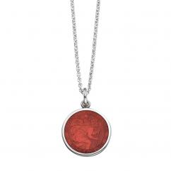 St. Christopher Red Enamel Medal