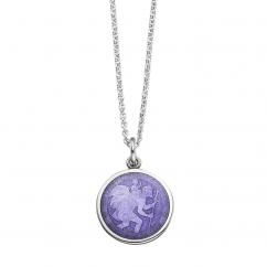 St. Christopher Purple Enamel Medal