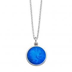 St. Christopher Royal Blue Enamel Medal