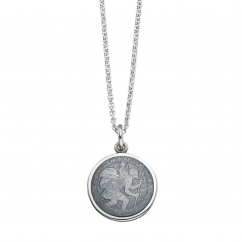 St. Christopher Grey Enamel Medal