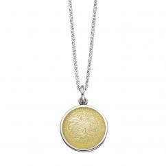 St. Christopher Yellow Enamel Medal
